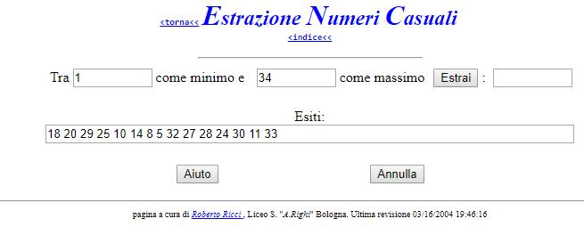 estrazione numeri casuali concorso partecipanti ufficiali