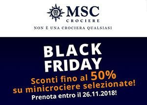 Msc Black Friday: offerte valide fino al 26 novembre