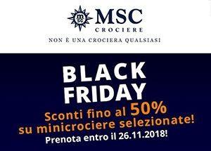 Msc Black Friday: offerte valide fino al 26 novembre