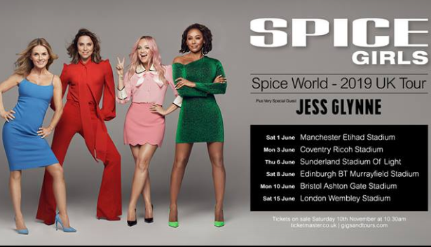 spice world tour uk