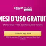 Music Unlimited di Amazon: 3 mesi d'uso gratuito!